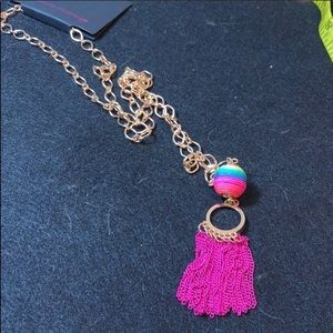 3/$12Neon long tassel chain fringe necklace